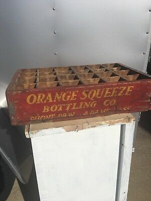rare soda crate Orange Squeeze 3 Digit Phone#