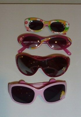 Girls lot of 4 Sunglasses Disney and Barbie Brands for ages 2-4 & 4-6