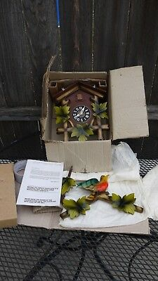 New Old Stock 1970s Black Forest Cuckoo Clock Complete,  Restoration Project