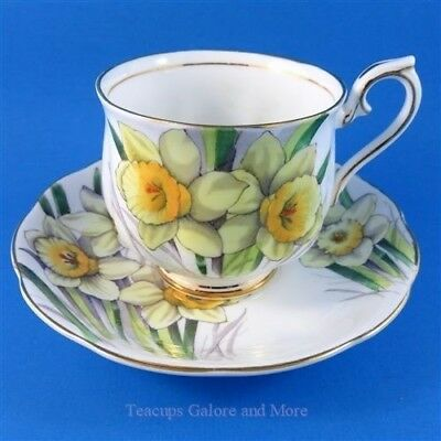 Royal Albert Painted Flower of The Month Daffodil #3 Tea Cup and Saucer