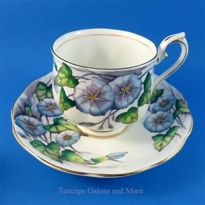 Royal Albert Painted Flower of The Month Morning Glory #9 Tea Cup and Saucer