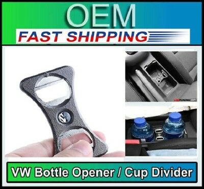 Genuine Bottle Opener Cup Holder Divider for VW Golf MK5 MK6 GTI R32 CC Passat