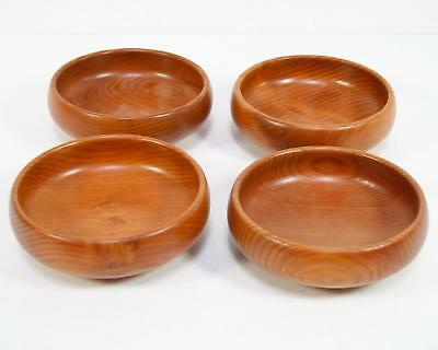4 California Redwood Bowls By Wooden Nickel Set