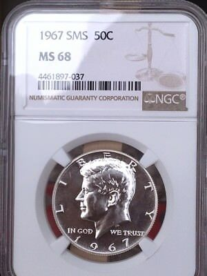 1967 Silver Kennedy NGC SMS 68 * Price Guide $410 - Rare! *