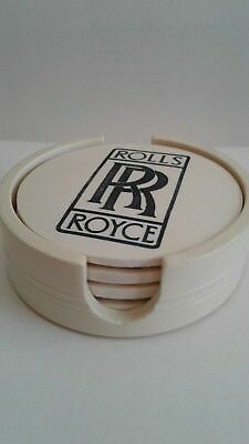 Rolls Royce Coasters--Set Of Four With Holder