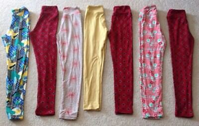 New Lularoe Tween Leggings Lot Of 7 Sz 0 XxS Rare Unicorn Sold Out Solid Prints