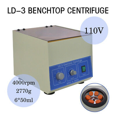 4000rpm 6*50ml Electric Benchtop Centrifuge Lab Medical LD-3 Centrifugal Machine