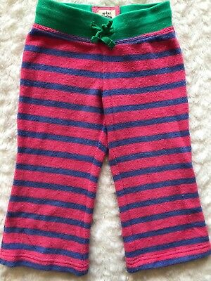 Baby Boden Mini Boden Baby Girl Toddler Toweling Terry Stripe Pants 2 2T