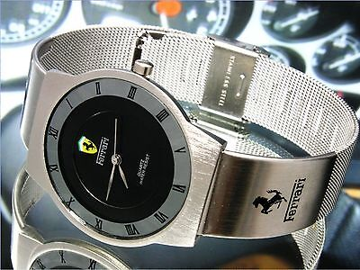 black Face stainless steel band For Fl racing watch Japan Quartz Move.