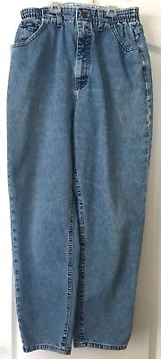 Vintage Lee Originals Women's 12P High Waisted Mom Jeans Side Elastic