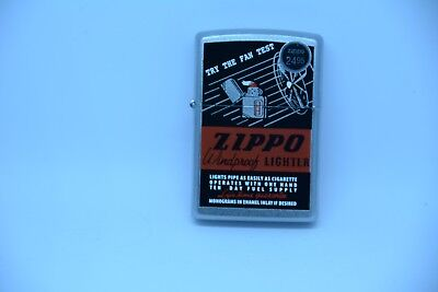 New ZIPPO WINDPROOF LIGHTER, TRY THE FAN TEST