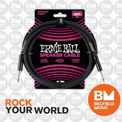 Ernie Ball 6072 Speaker Cable 6ft (2m) Straight/Straight Black