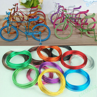 5M/Roll Colorful DIY Aluminum Wire Cord Necklace Jewelry Making Craft Accessory