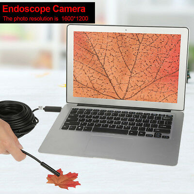 15m USB Endoscope w/ HD 2-Megapixel Waterproof Camera for Pipe Car Inspection zg