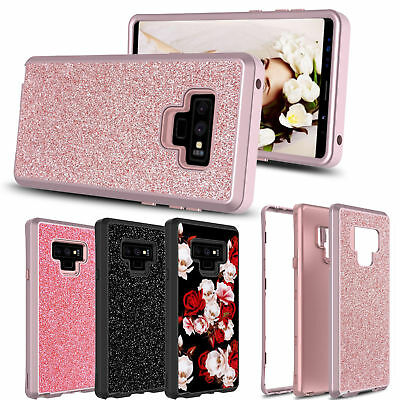 For Samsung Galaxy Note 9/S9 Plus Glitter Bling Shockproof Armor Full Cover Case