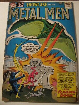 SHOWCASE #37 METAL MEN Silver Age Comic Book 1962 DC first appearance