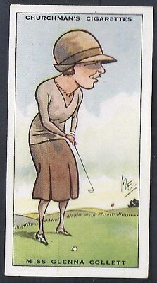 Churchman-Prominent Golf Ers (Standard Size)-#07- Miss Glenna Collett