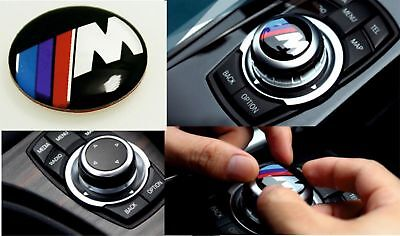 M Sport  iDrive Multimedia Button Sticker Badge Logo for BMW 29mm