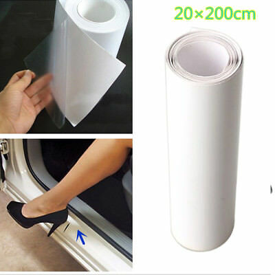 20*200cm Clear Car Door Sill/Edge Paint Protection Vinyl Film Sheet Anti-Scratch