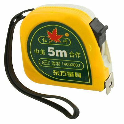 NEW Tape Measure 5M Metric Only A12030600ux0381 Yellow White 5 Meters Dual Sc UK