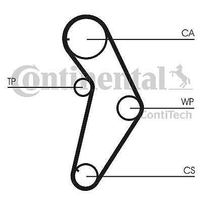 Timing Belt and Water Pump Kit CONTITECH CT927WP1 for Fiat Lancia