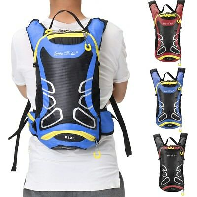 12L Breathable Motorcycle Backpack Waterproof Nylon Riding Bag Multi-function