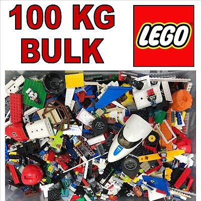 100Kg Of Used Bulk Lego Minifigures Blocks Bricks Pieces Joblot Wholesale