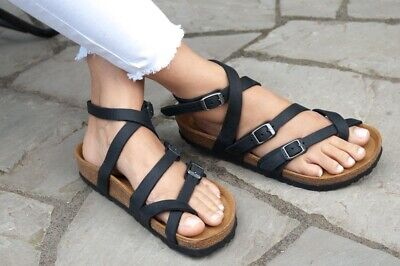 50aeefcca91 Birkenstock Sandals SERES Camberra Old Black natural leather regular fit NEW