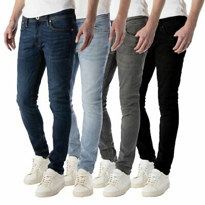 Jack & Jones Skinny Jeans Herrenhose Liam In 5 Modernen Farben Mit Stretch, Neu