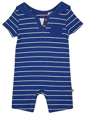Baby Boys Nautical Stripe Sailor All in One Romper Playsuit Newborn to 12 Months