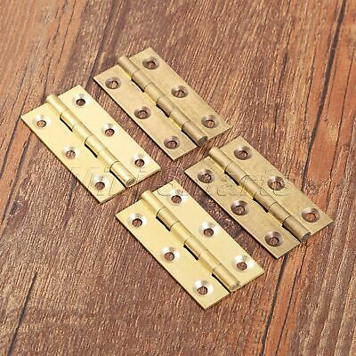 Brass Cupboard Drawer Cabinet Door Hinges Furniture Hardware 2PCS High Quality
