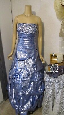 Prom/Mother Of the Bride Dress by Tiffany-Blue Ice-Jeweled/Strapless