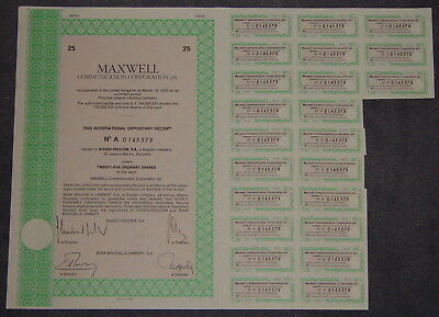 MAXWELL Communication Corporation plc. 25 X 0,25 GBP 1989