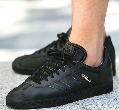 watch 1e1aa 2ca53 New ADIDAS Originals Gazelle Leather Casual Sneakers Mens triple black all  sizes