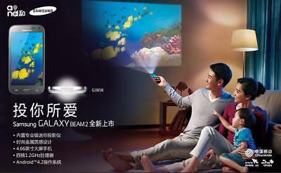 G3858 Original Samsung Galaxy Beam2 SM-G3858 Smartphone with Built-in Projector
