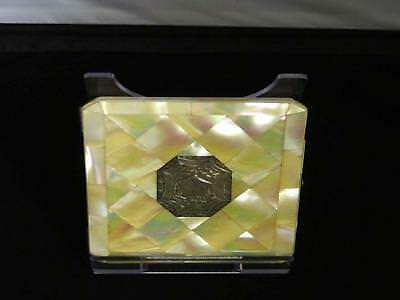 Antique Victorian Mother-Of-Pearl & Silver Purse Type Card Case,Mid 19th Century