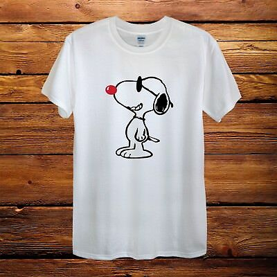 Snoopy Dog Peanuts Red Nose Day Comic Relief T-Shirt Men Unisex Women Fitted