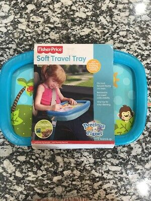 Fisher Price Soft Travel Tray - Car Tray for Snacking, Homework & Playing!