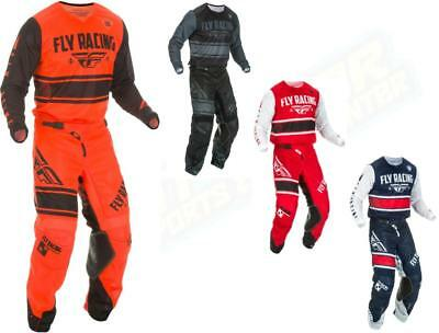 2019 Fly Racing Kinetic Mesh Jersey Pant Gear Combo Adult Pants 2018.5 Dirt Bike