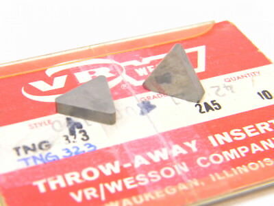 New Surplus 10Pcs. Vr Wesson  Tng  323  Grade: 2A5  Carbide Inserts