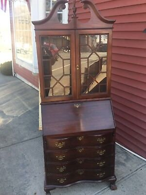 Mahogany Claw And Ball Secretary Desk Drop Front Desk