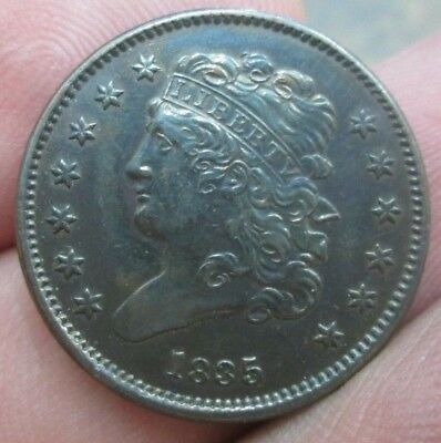 1835 United States Classic Head Half Cent Cleaned Nice Condition No Reserve