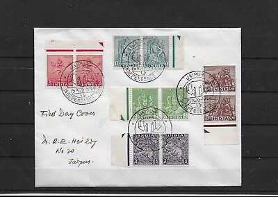 India Inde Indien 1949 5 Pair on  FDC Post Independence  Definitive  Jaipur