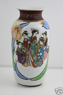 Antique 19th Century Japanese Vase Meiji Period 19cm High  Handpainted