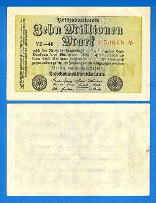 Germany P-106 10 Millionen Marks Dated 22.8.1923 Circulated Banknote Europe