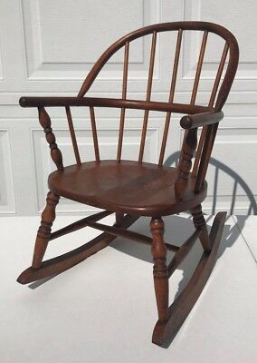 Antique 1930's Bentwood Windsor / Hoop-Back Child's Rocker