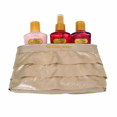 Victoria's Secret Pure Seduction 3 Piece Gift Set Body Mist Wash Lotion Bag Vs