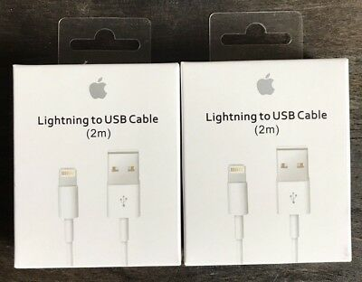 2X 2M/6feet New OEM Apple Lightning USB Cable Charger iPhone X 8 7 6 6S Plus 5C