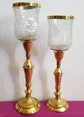 Pair of solid Brass Candle Holders by Hosley home decor