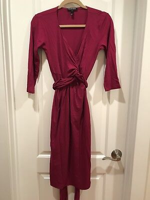 Isabella Oliver Maternity Emily Cross Wrap Front Dress Sz 3/Med/US 8/$155 retail